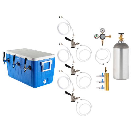 Triple Faucet Jockey Box - 70' Coils - Complete Kit