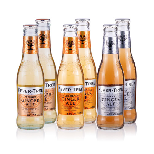 Fever Tree Ginger Ale Sampler Pack - 6.8 oz - Set of 6 Bottles
