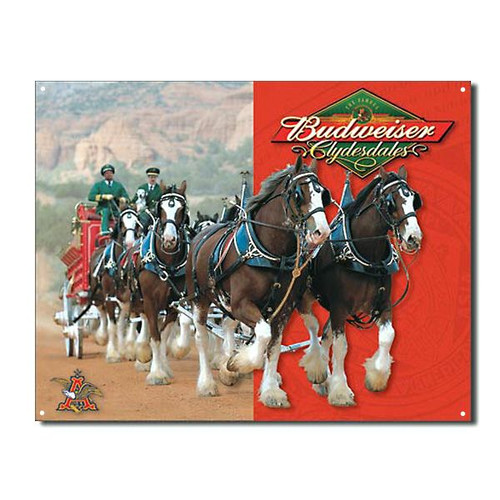 Budweiser tin bar sign