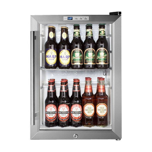 Summit Pub Cellar Compact Glass Door Refrigerator - 2.5 cu. ft.