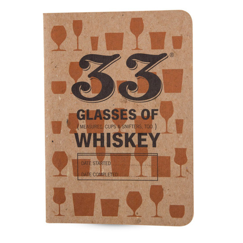 33 Drams of Whiskey Tasting Notebooks