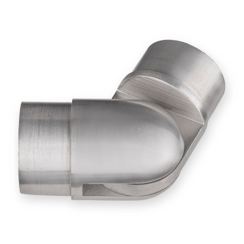 "Adjustable Flush Elbow - Brushed Stainless Steel - 2"" OD"
