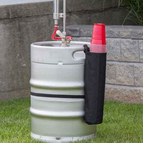 Keg Buddy Beer Keg Cup Holder with Keg - Holds Over 50 Cups