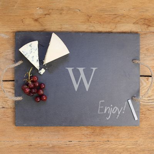 Personalized Slate Serving Tray with Handles
