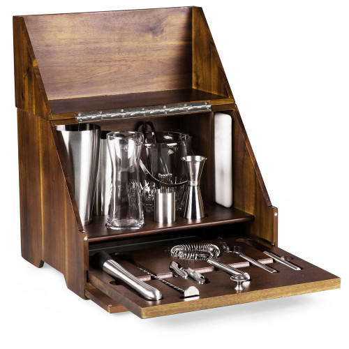 Madison Wooden Tabletop Bar Tool Set - 20 Pieces