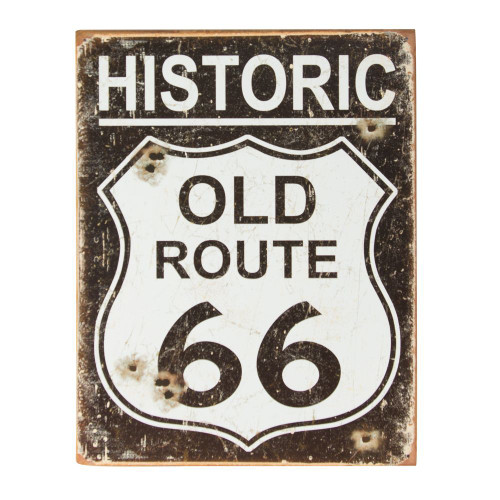 Historic Old Route 66 Metal Bar Sign