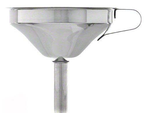 """Stainless Steel Funnel with Removable Strainer - 5"""" Diameter"""