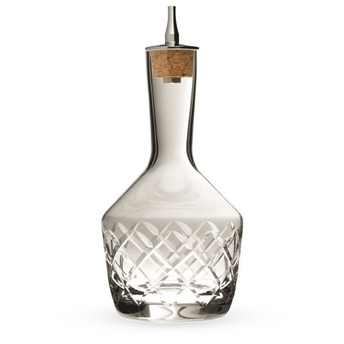 Urban Bar Bitters Bottle - Diamond Cut Glass with Stainless Steel Dasher Top