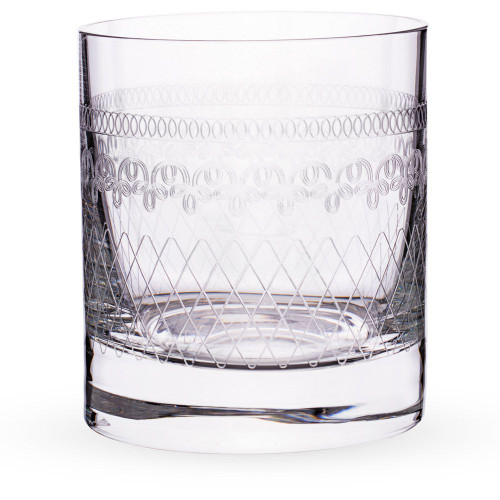 Urban Bar Etched Crystal 1910 Retro Old Fashioned Glasses