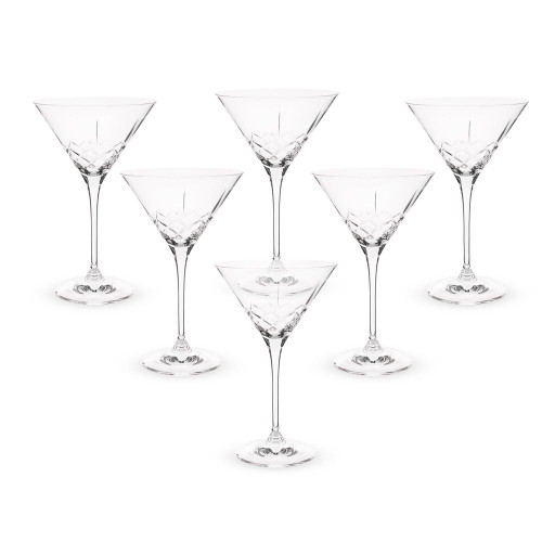 Urban Bar Ginza Cut Crystal Martini Glasses - 7 oz - Set of 6