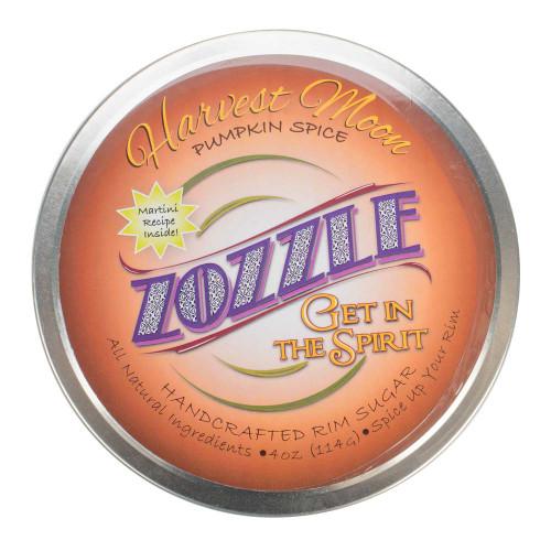 Zozzle Handcrafted Rimming Sugar - Harvest Moon Pumpkin Spice - Cinnamon, Nutmeg, Ginger & Allspice - 4 oz