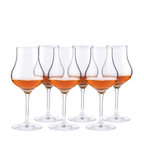 Urban Bar Whiskey & Spirit Stemmed Crystal Tasting Glasses - 4 oz - Set of 6
