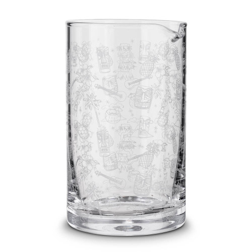 Urban Bar Tiki Pattern Mixing Glass - 800ml