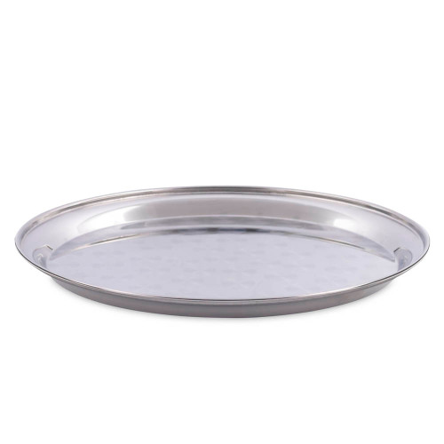 Chrome Plated Stainless Steel Round Bar Serving Tray
