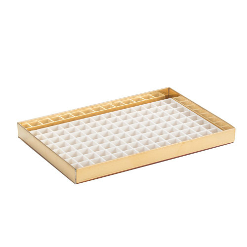 "8 1/8"" Countertop Drip Tray - Brass Finish - No Drain"