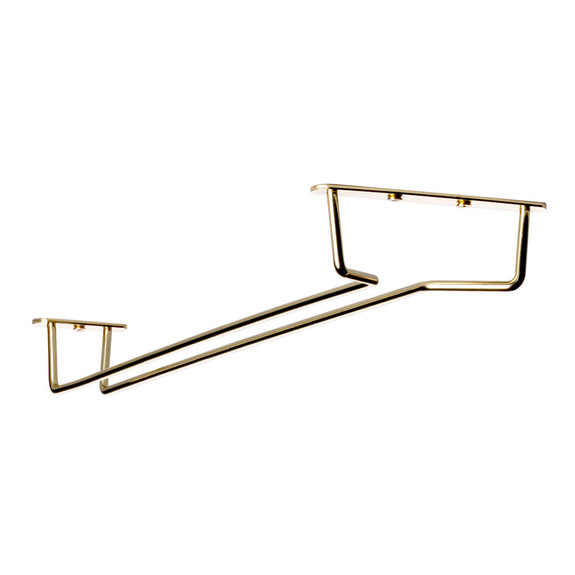 "Glass Hanger Rack - Brass - 16""L"