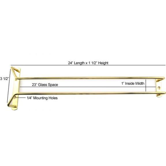 Glass Hanger Rack - Brass