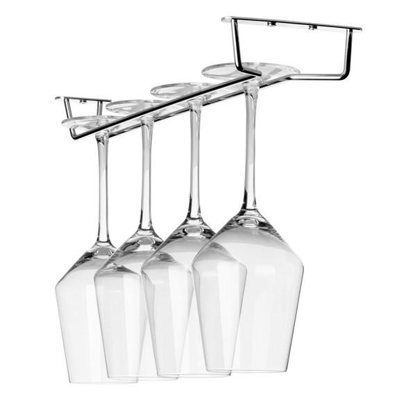 """Glass Hanger Rack - Chrome - 16""""L"""