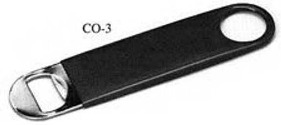 Professional Bottle Opener w/ Black Vinyl Grip