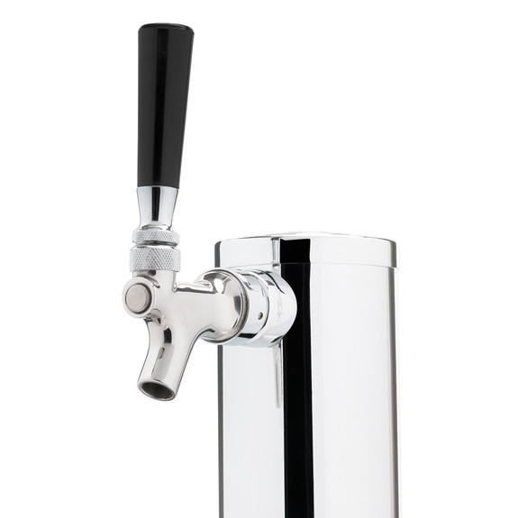Single Tap Chrome Tower - 2-1/2 inch