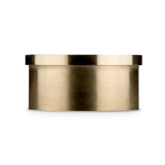 "Flush Flat End Cap - Polished Brass - 2"" OD"