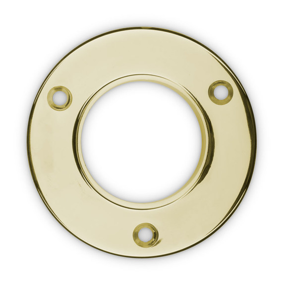 "4"" Wall Flange - Polished Brass - 2"" OD"