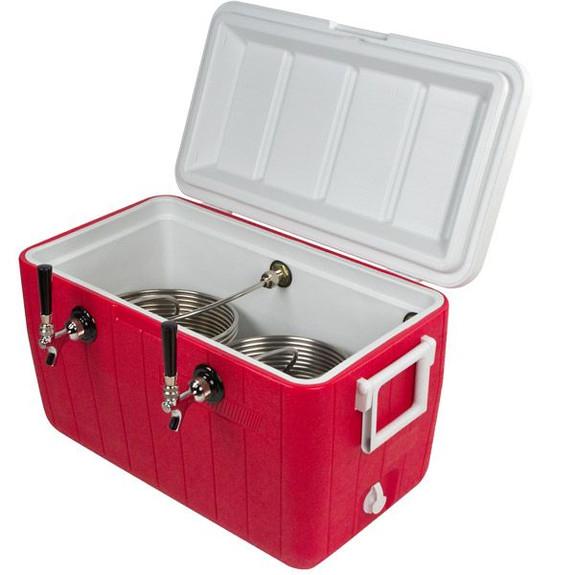 Double Faucet Jockey Box Open