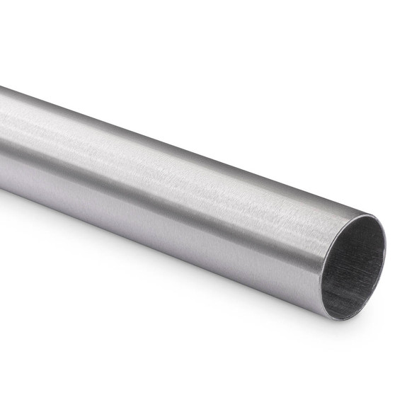"Bar Foot Rail Tubing - Brushed Stainless Steel - 2"" OD"