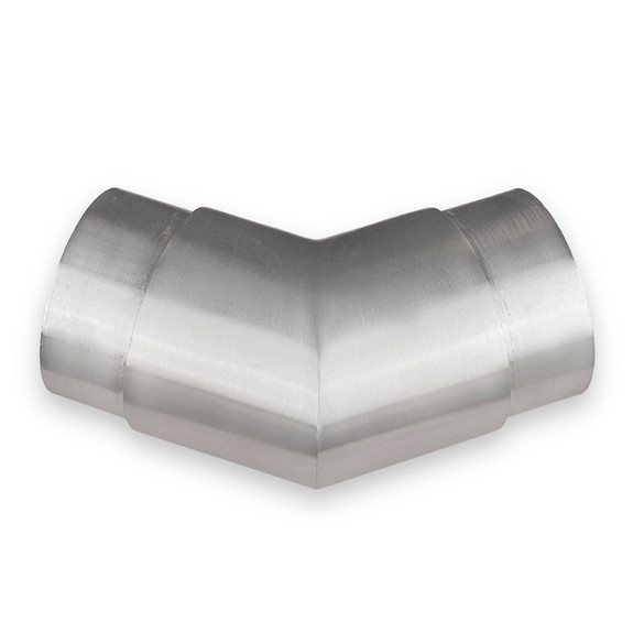 "Flush Angle Fitting 135(45) Degree - Brushed Stainless Steel - 2"" OD"