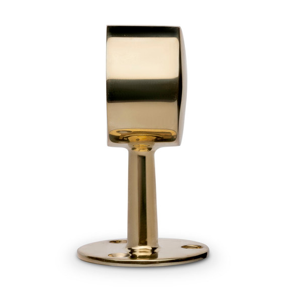 "Center Post End Cap - Polished Brass - 2"" OD"