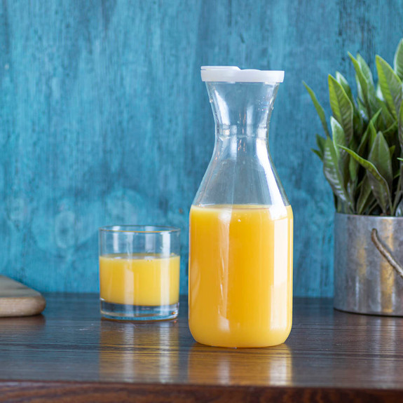 Polycarbonate Juice Carafe Container with Lid - 1 Liter