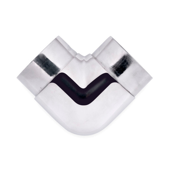 "Flush Elbow Fitting 90 Degree - Polished Stainless Steel - 2"" OD"