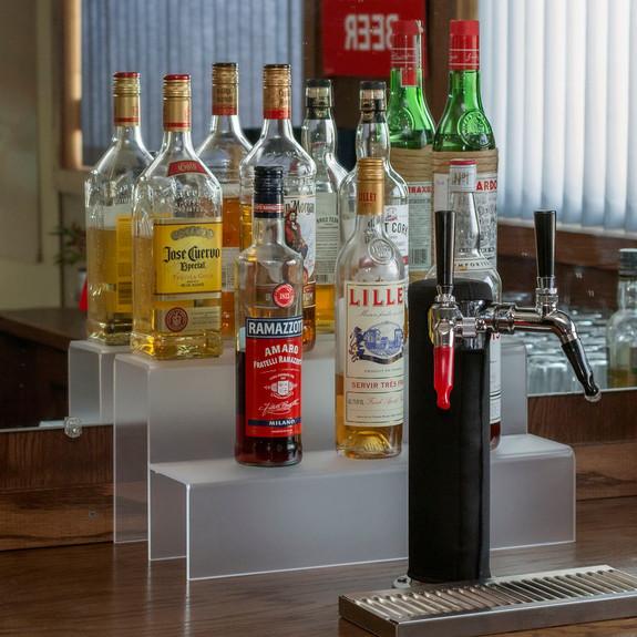 18-inch 2 Tier Liquor Bottle Shelf - Translucent