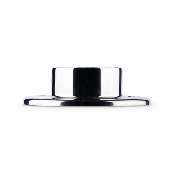 """4"""" Wall Flange - Polished Stainless Steel - 2"""" OD"""