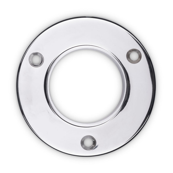 "4"" Wall Flange - Polished Stainless Steel - 2"" OD"