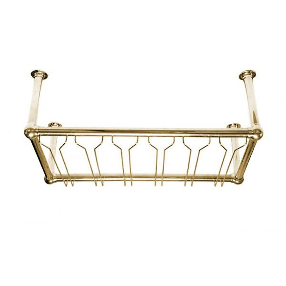 commercial wine glass rack