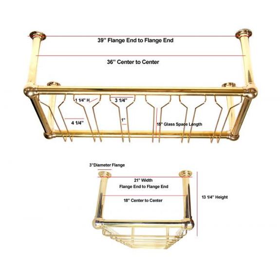 bar wine glass rack