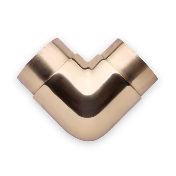 "Flush Elbow Fitting 90 Degree - Polished Brass - 2"" OD"