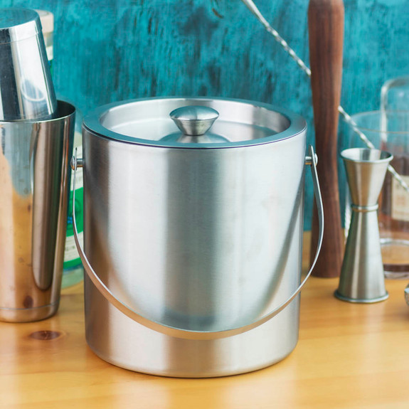 Behind The Bar�� Stainless Steel Double Walled Ice Bucket - 3 Quarts