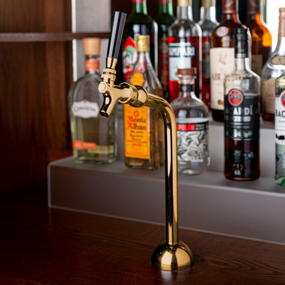 Axis Draft Beer Tower - Brass - 1 Faucet