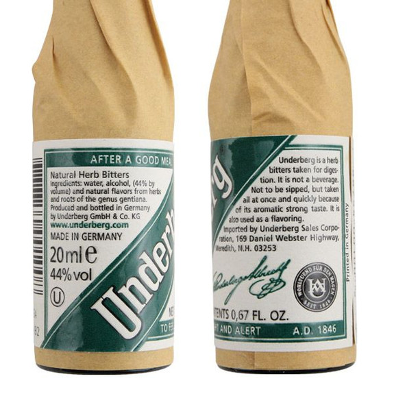 Underberg Natural Herbal Bitters Ingredients and Description