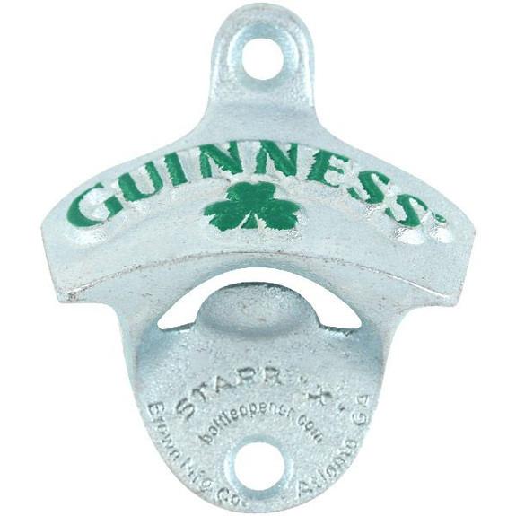 Guinness Shamrock Cast Iron Bottle Opener - Wall Mounted