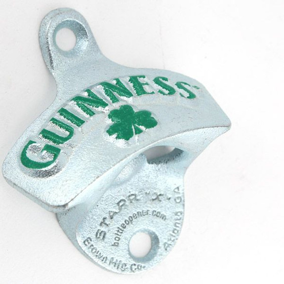 Guinness Shamrock Cast Iron Bottle Opener Close Up