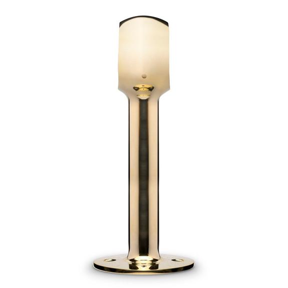 "Tall Rounded Center Post Bracket - Polished Brass - 2"" OD"