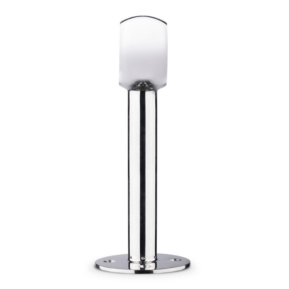 """Tall Rounded Center Post Bracket - Polished Stainless Steel - 2"""" OD"""