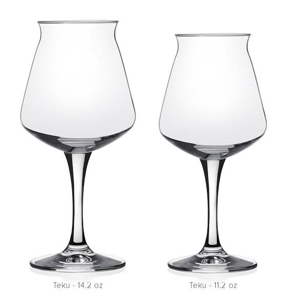 Rastal TeKu Stemmed Beer Glass - 14.2 oz and 11.2