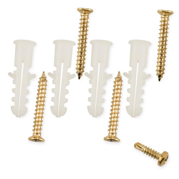 """Rounded Center Post Bracket - Satin Brass - 2"""" OD"""