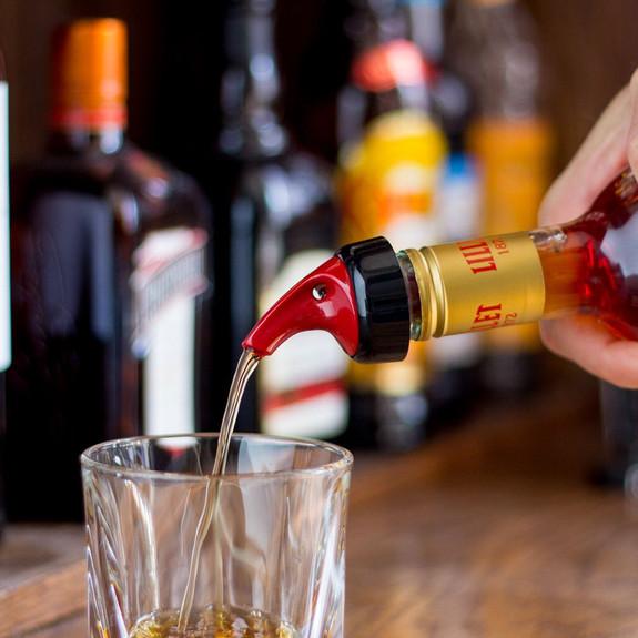 Posi-Pour Measured Bottle Pourer - 0.25 oz - Ideal For Spirit & Wine Tasting