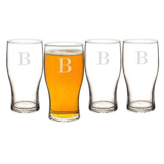 Personalized Tulip Beer Glasses - 19 oz - Set of 4