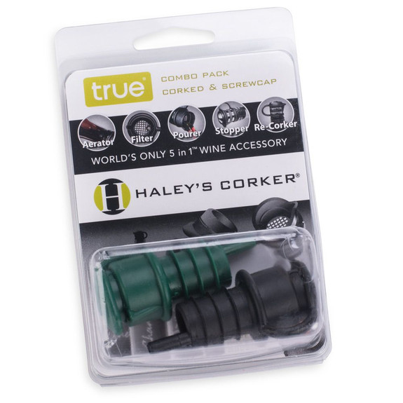 Haley's Corker 5 in 1 Wine Aerator & Stopper - 2 Pack